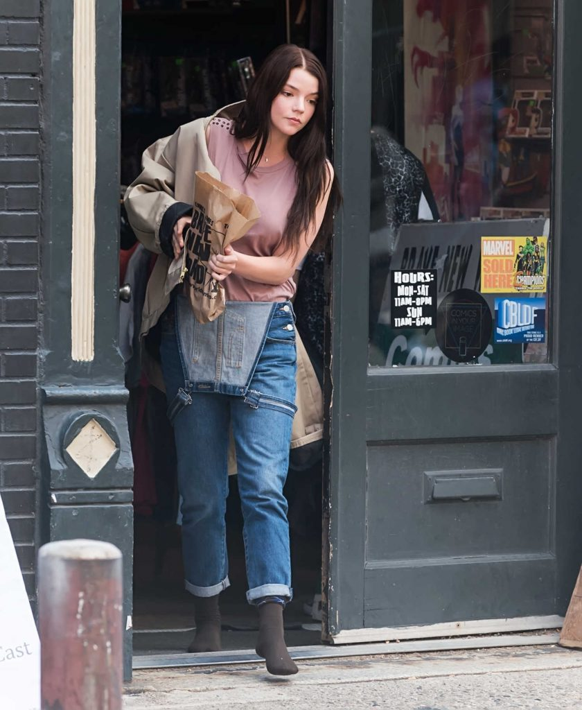 Anya Taylor-Joy on the Set of Glass in Philadelphia-1