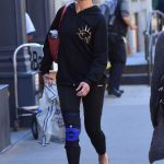 Brooke Shields Arrives at the Gym in New York