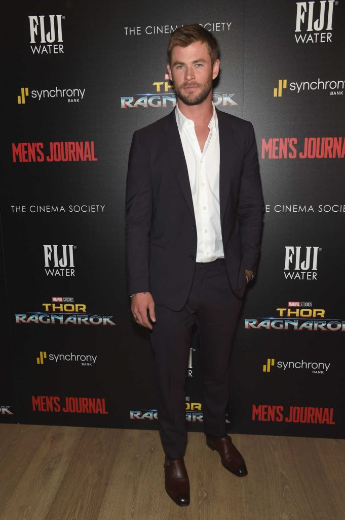 Chris Hemsworth at the Thor: Ragnarok Screening in New York City-1