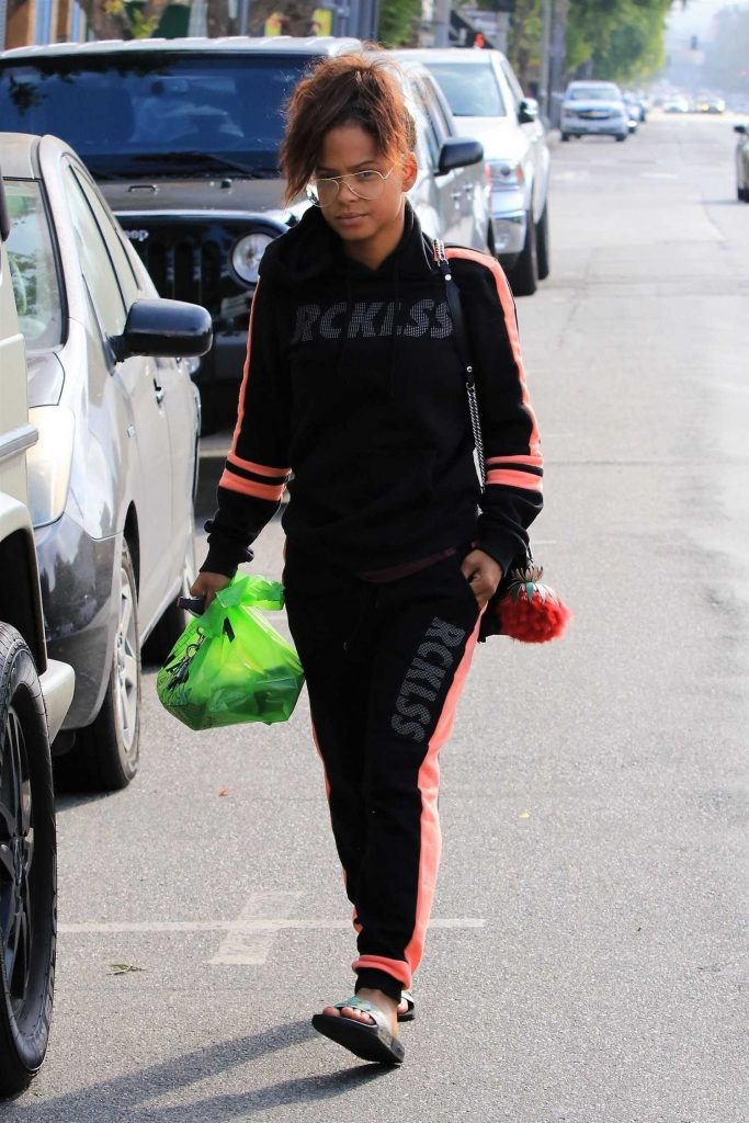 Christina Milian Takes a Car in Studio City-2