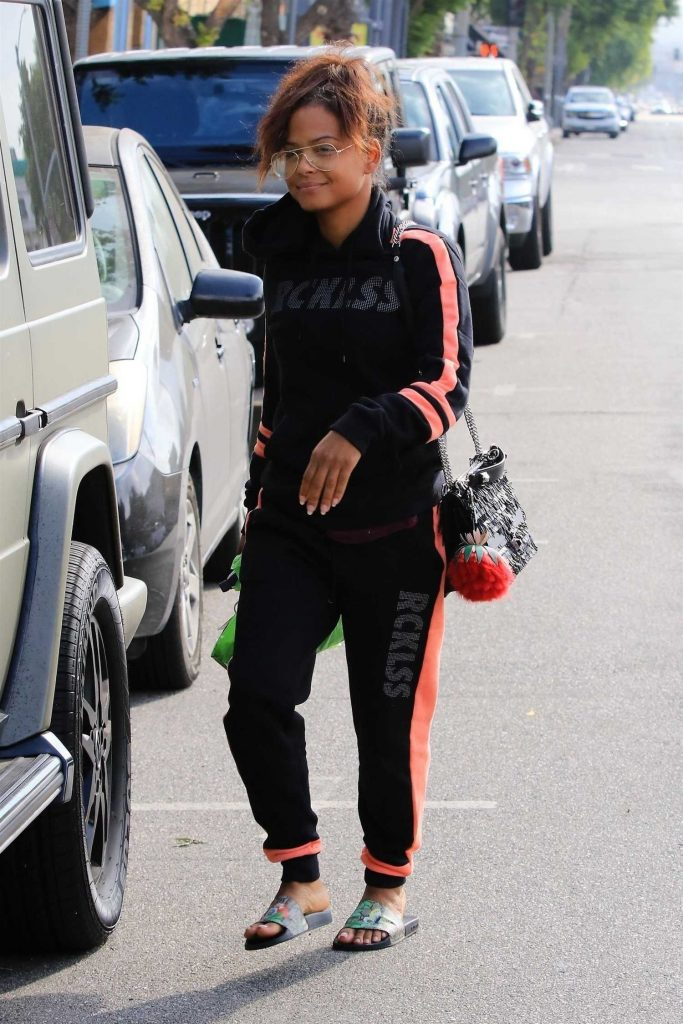 Christina Milian Takes a Car in Studio City-3
