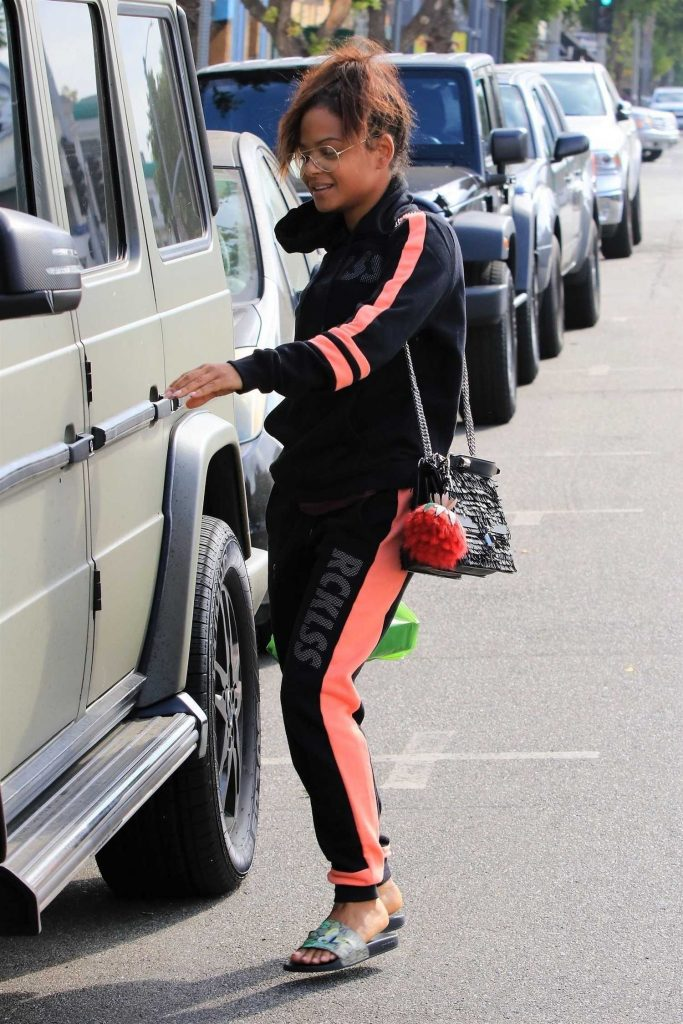 Christina Milian Takes a Car in Studio City-4