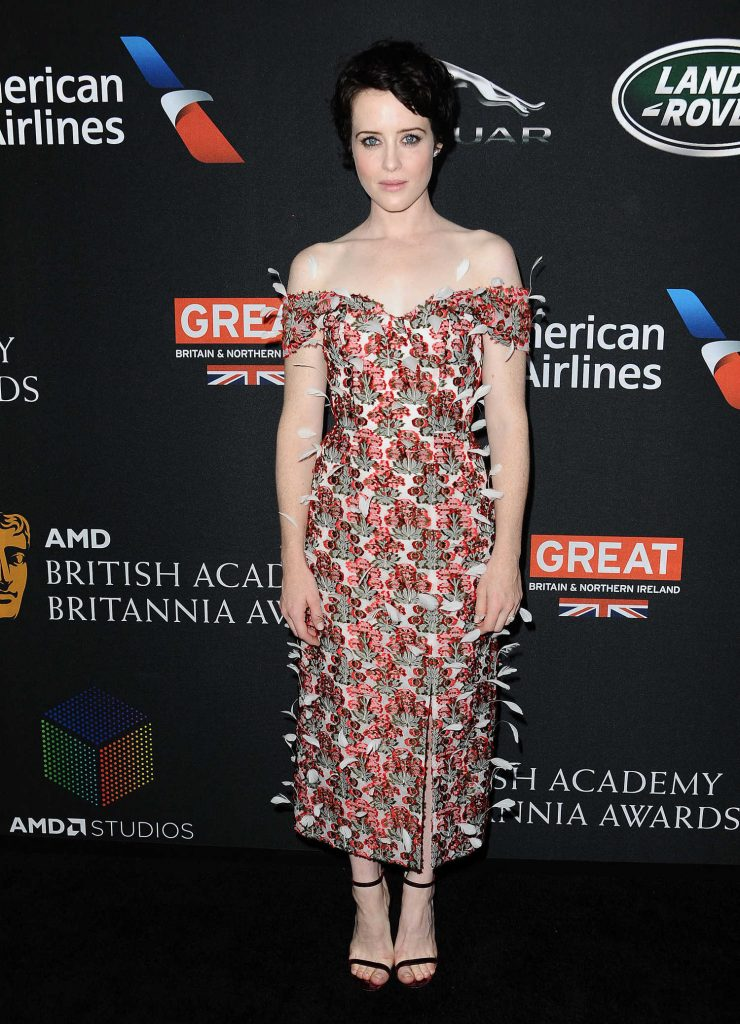 Claire Foy at 2017 AMD British Academy Britannia Awards in Beverly Hills-1