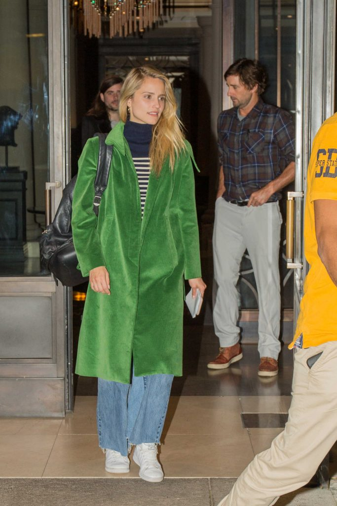 Dianna Agron Leaves the Titanic Hotel in Berlin-1