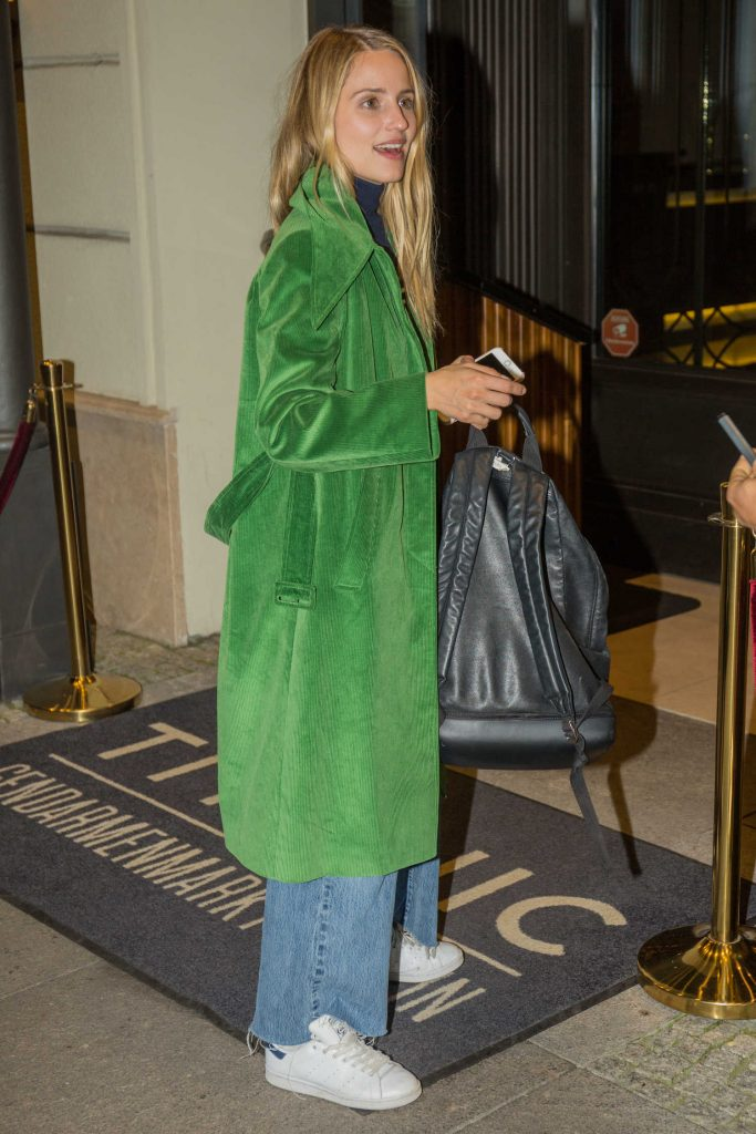 Dianna Agron Leaves the Titanic Hotel in Berlin-3