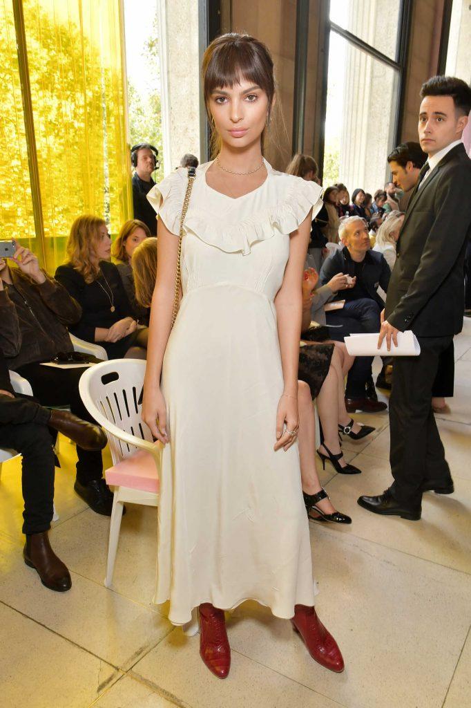 Emily Ratajkowski at the Miu Miu Fashion Show During Paris Fashion Week-1