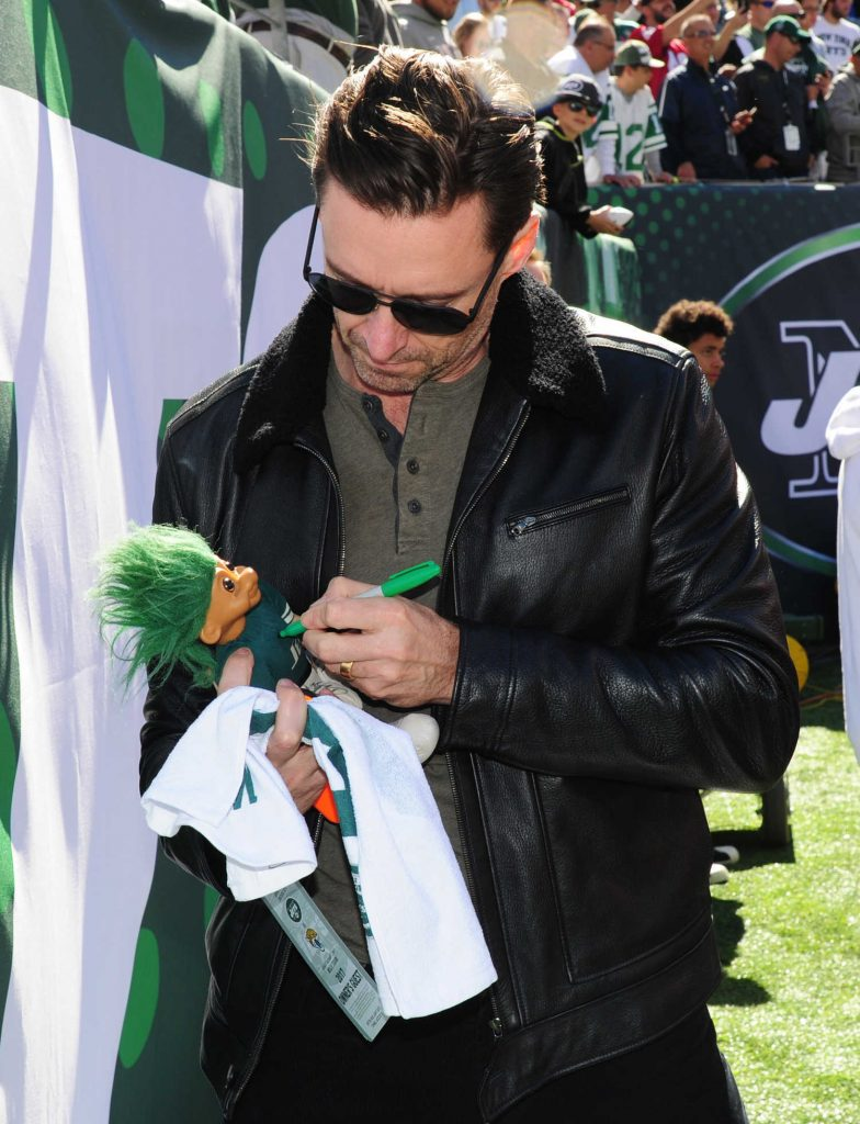Hugh Jackman Attends a New York Jets Game at Met Life Stadium in New Jersey-1