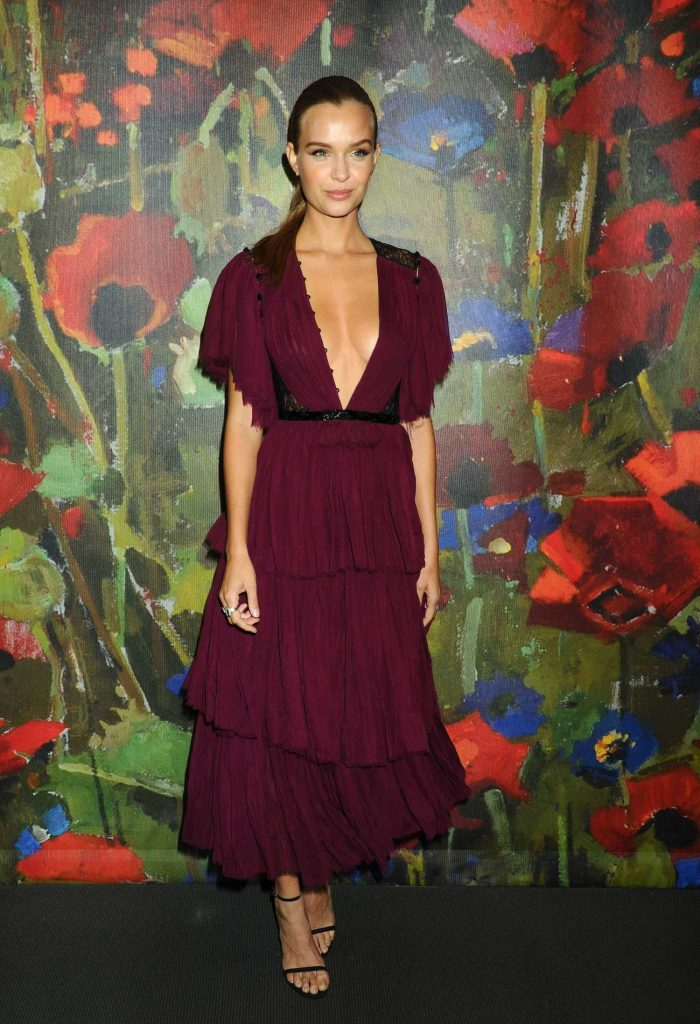 Josephine Skriver at 2017 Take Home a Nude Art Party and Auction at Sotheby's in New York City-2