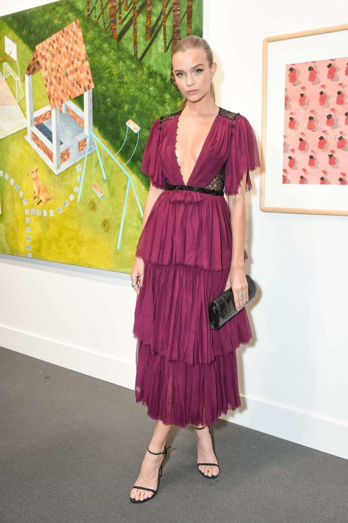 Josephine Skriver at 2017 Take Home a Nude Art Party and Auction at Sotheby's in New York City-4