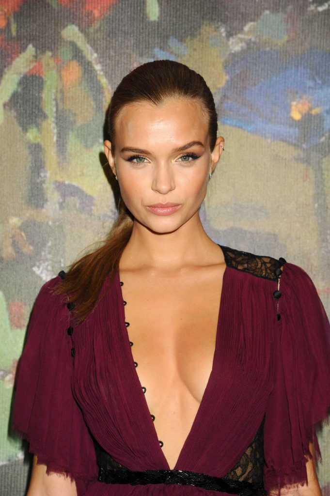 Josephine Skriver at 2017 Take Home a Nude Art Party and Auction at Sotheby's in New York City-5