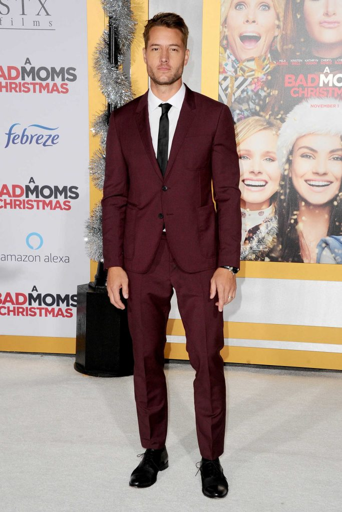 Justin Hartley at A Bad Mom's Christmas Premiere at the Regency Village Theatre in Westwood-1