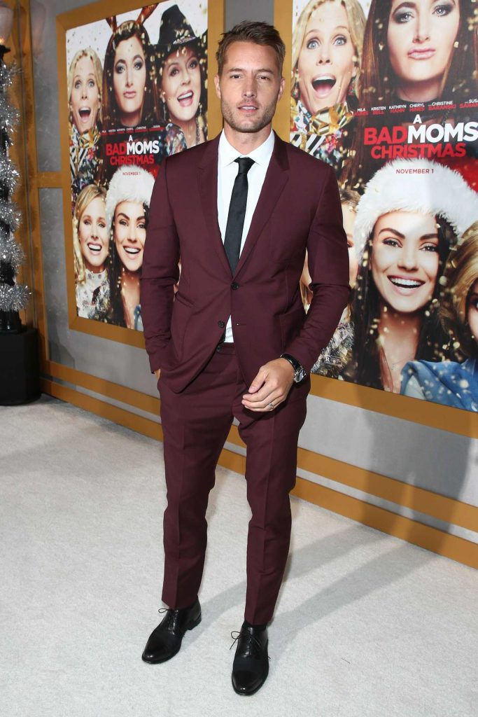 Justin Hartley at A Bad Mom's Christmas Premiere at the Regency Village Theatre in Westwood-2