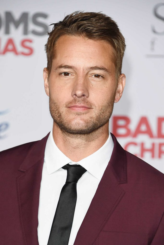 Justin Hartley at A Bad Mom's Christmas Premiere at the Regency Village Theatre in Westwood-5