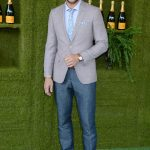 Justin Hartley at the Veuve Cliquot Polo Classic in LA
