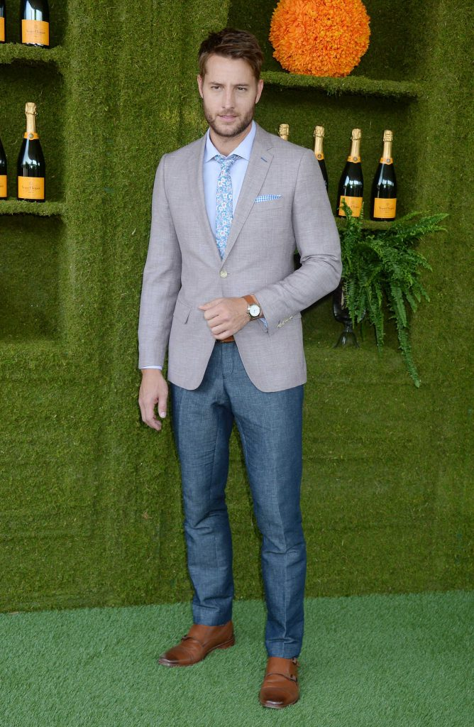Justin Hartley at the Veuve Cliquot Polo Classic in LA-1