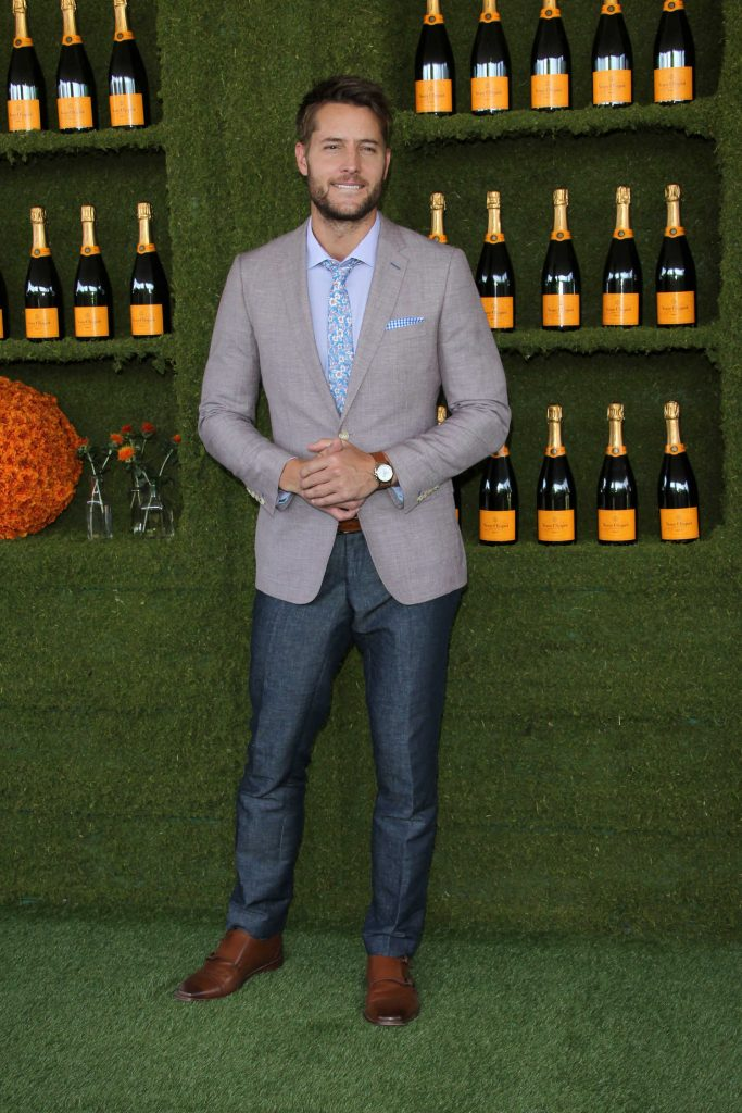 Justin Hartley at the Veuve Cliquot Polo Classic in LA-2