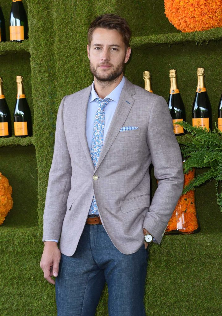 Justin Hartley at the Veuve Cliquot Polo Classic in LA-4