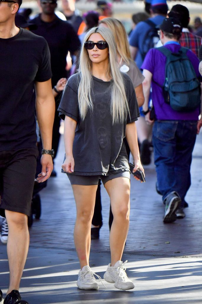 Kim Kardashian at Disneyland in Anaheim-1