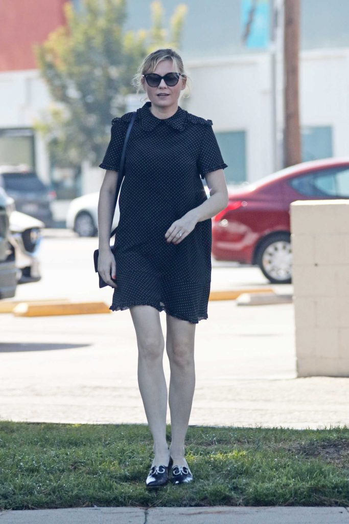 Kirsten Dunst Wears a Black Dress Out in LA-1