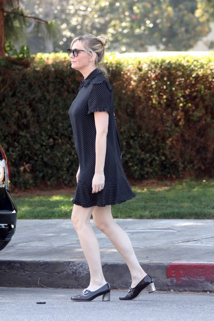 Kirsten Dunst Wears a Black Dress Out in LA-4