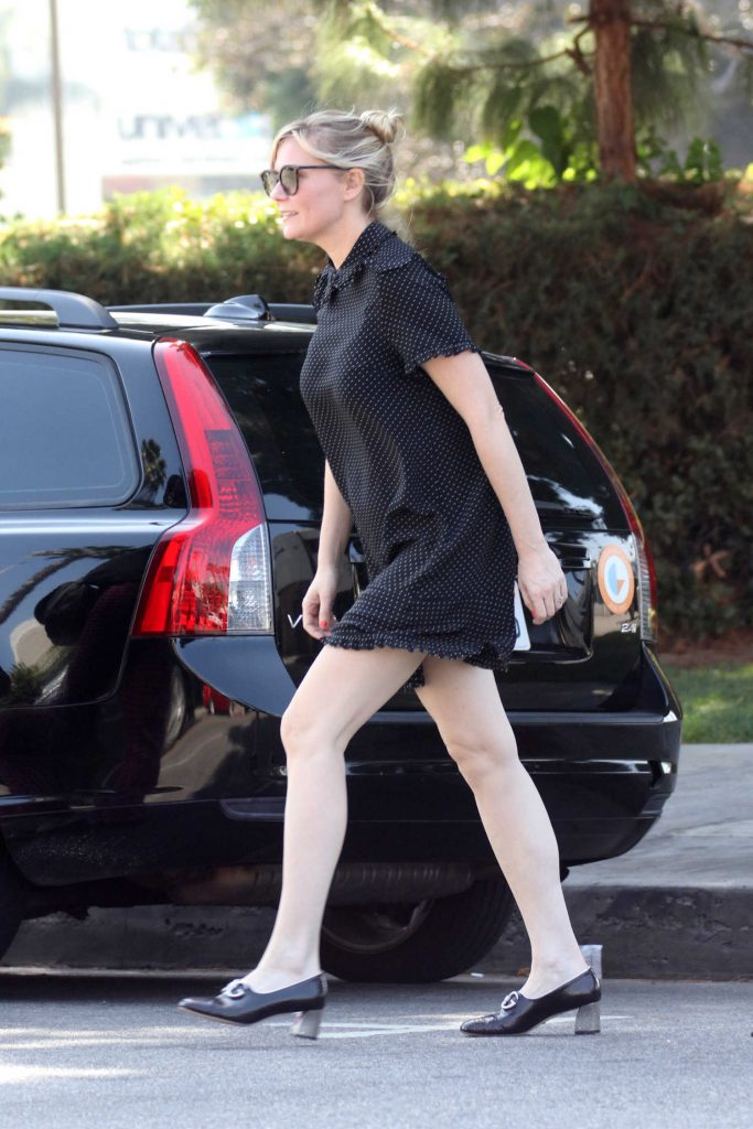 Kirsten Dunst Wears a Black Dress Out in LA-5