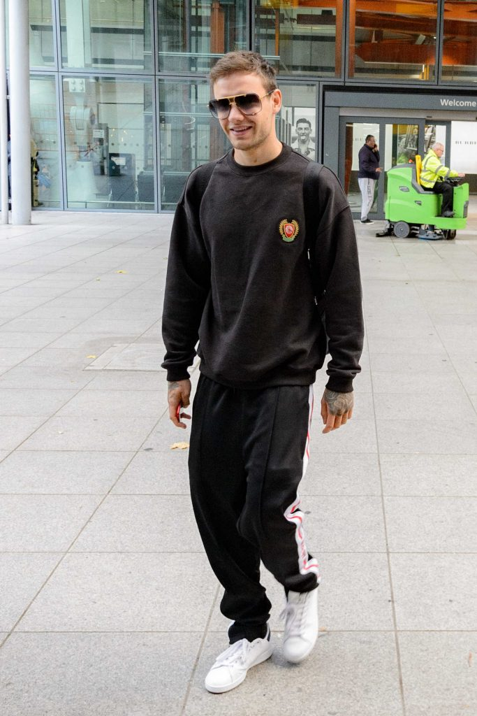 Liam Payne Leaves Heathrow Airport in London-1