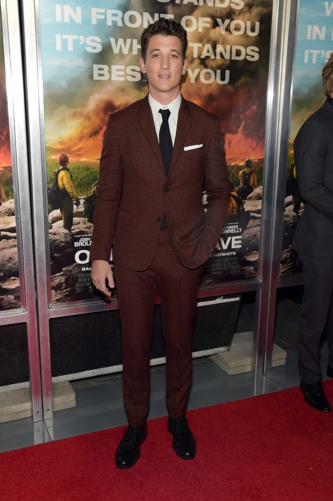 Miles Teller at Only The Brave Screening in New York City-1