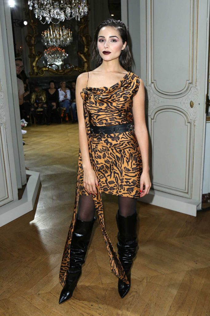 Olivia Culpo Attends John Galliano Fashion Show During Paris Fashion Week-1