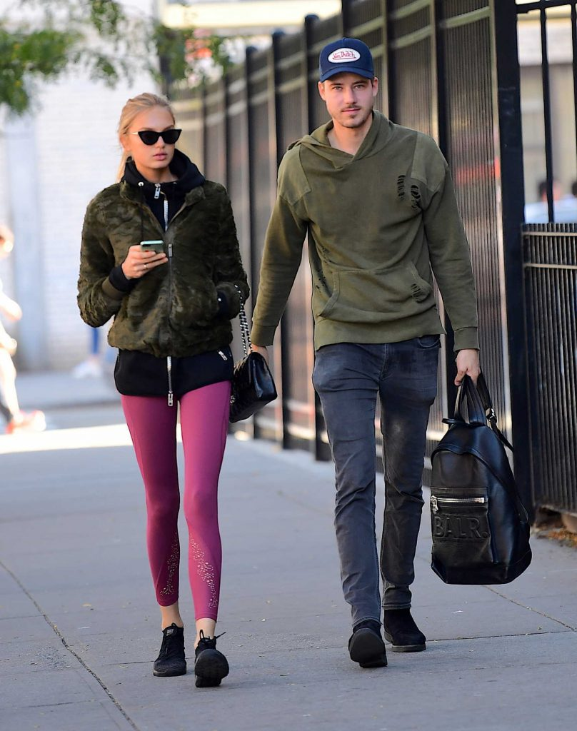 Romee Strijd Leaves the Gym in NYC-5