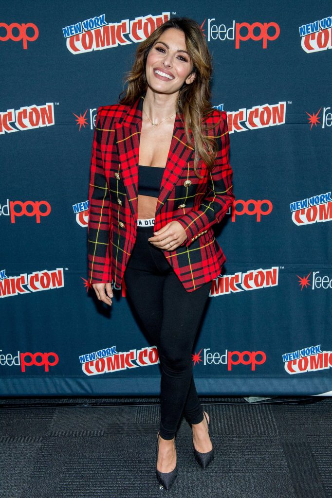 Sarah Shahi at the Reverie Photocall During New York Comic Con-2