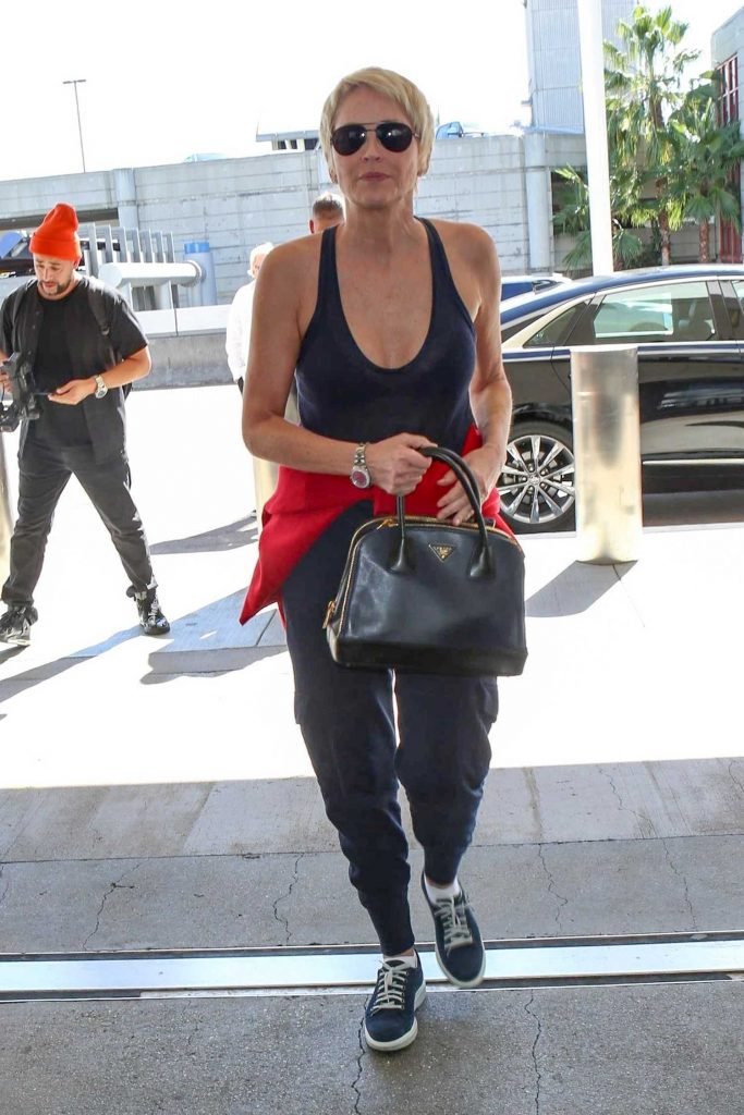Sharon Stone Was Seen at LAX Airport in Los Angeles-1