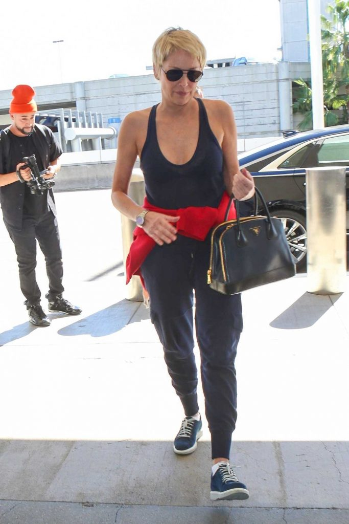 Sharon Stone Was Seen at LAX Airport in Los Angeles-2