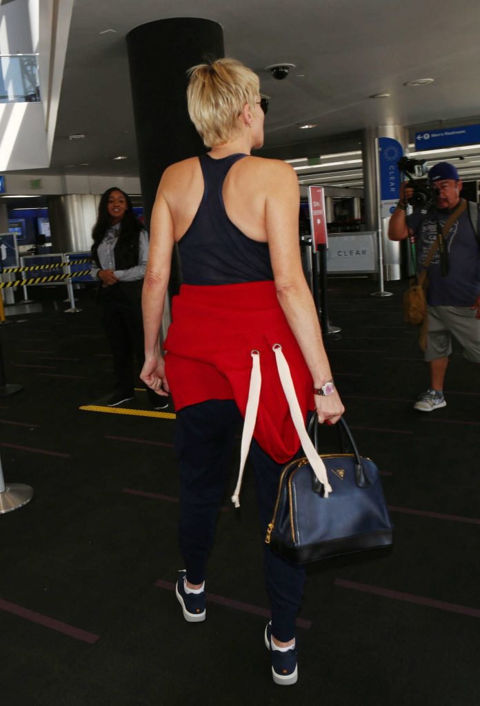 Sharon Stone Was Seen at LAX Airport in Los Angeles-5