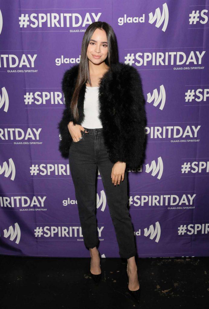 Sofia Carson at Justin Tranter and GLAAD Present Believer Spirit Day Concert in LA-1