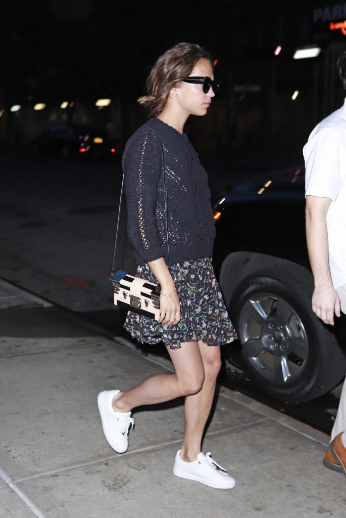 Alicia Vikander Was Seen Out in New York City-2