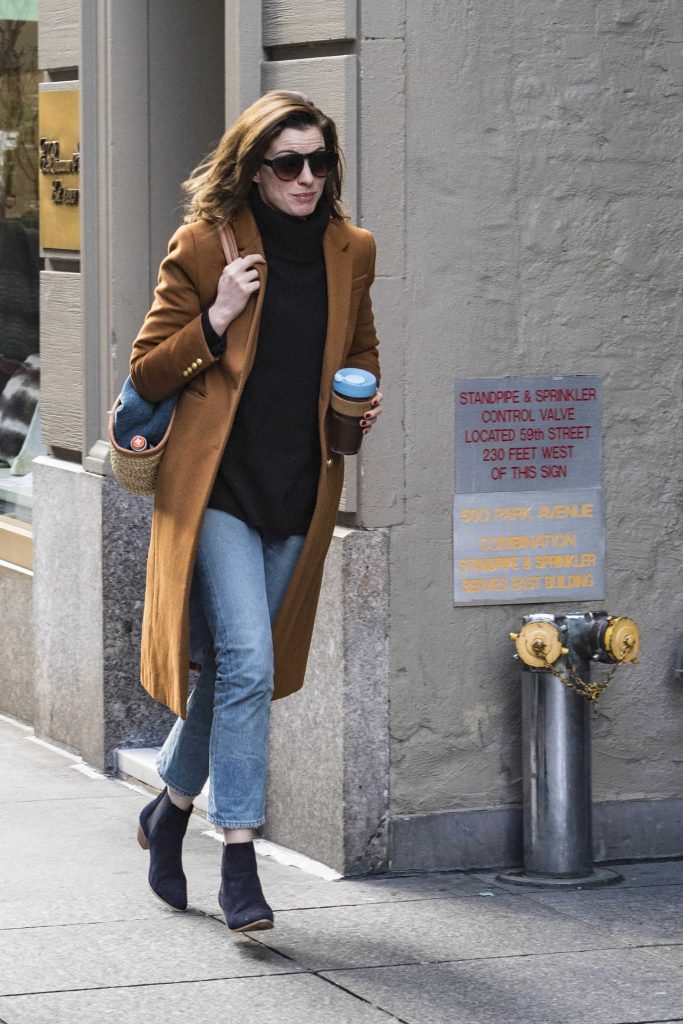 Anne Hathaway Was Seen Out in New York City-1