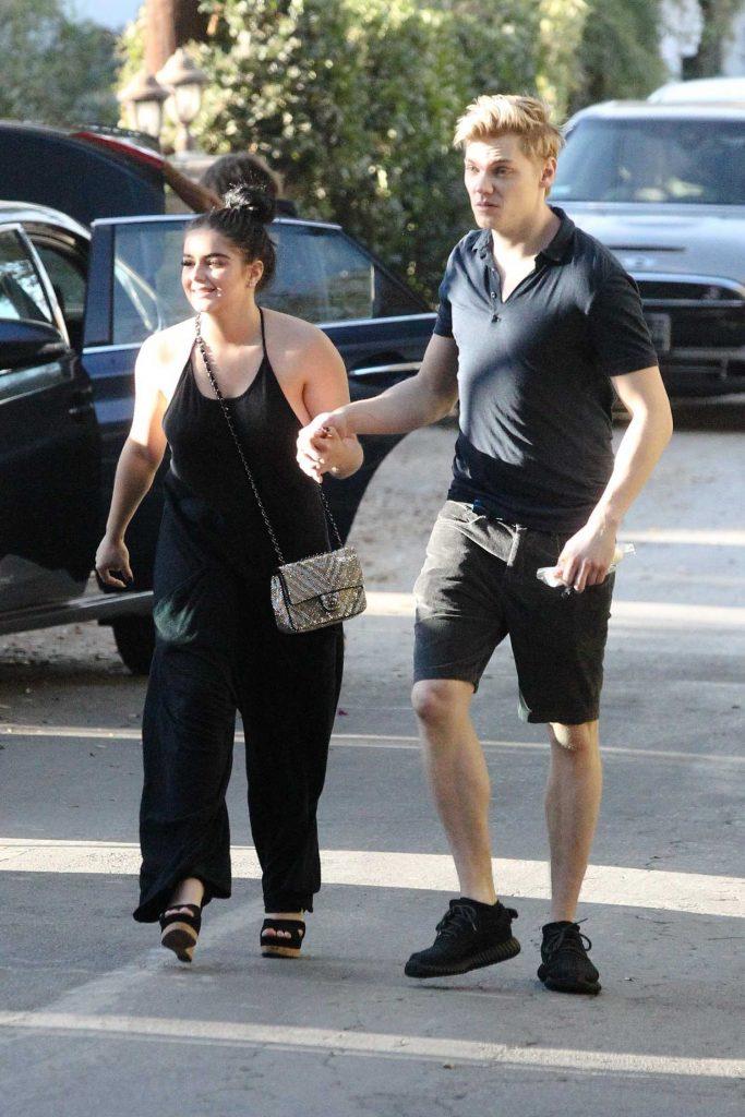Ariel Winter Wears a Black Pant Suit With Levi Meaden in LA-3