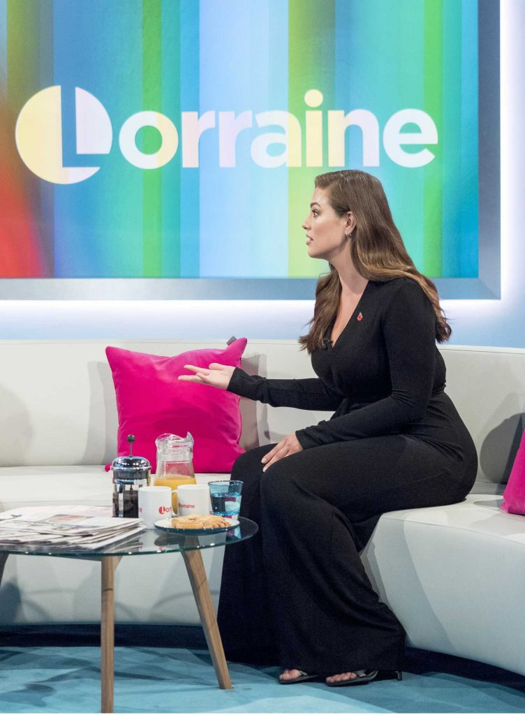 Ashley Graham at the Lorraine TV Show in London-5