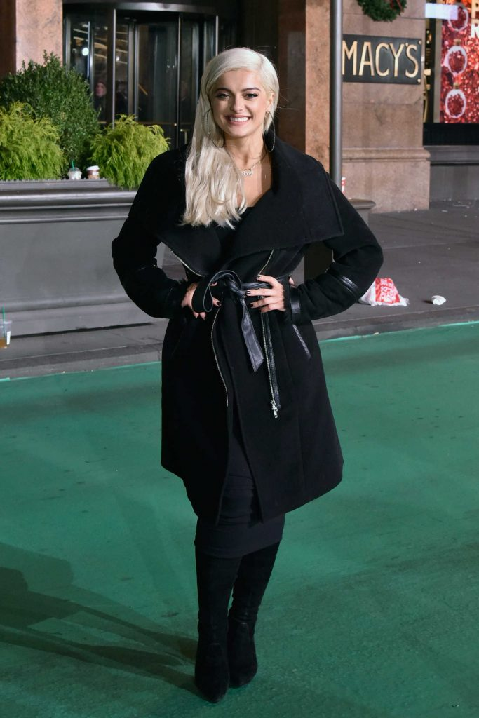 Bebe Rexha at the Macy's Thanksgiving Day Parade Rehearsals in NYC-1