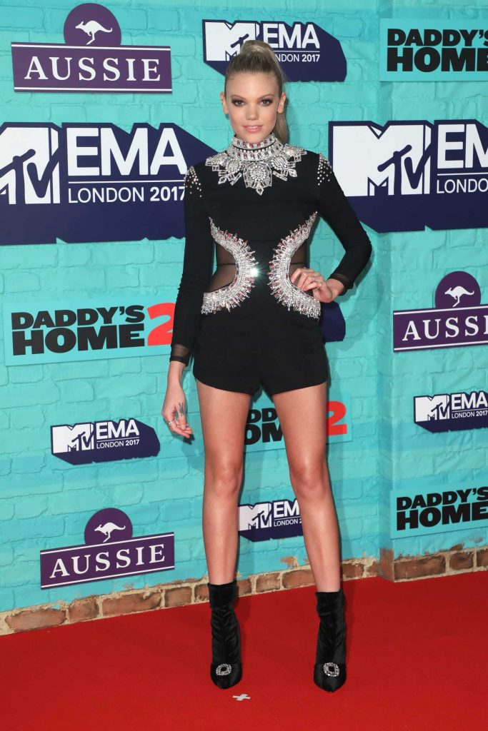 Becca Dudley at the 24th MTV Europe Music Awards in London-1