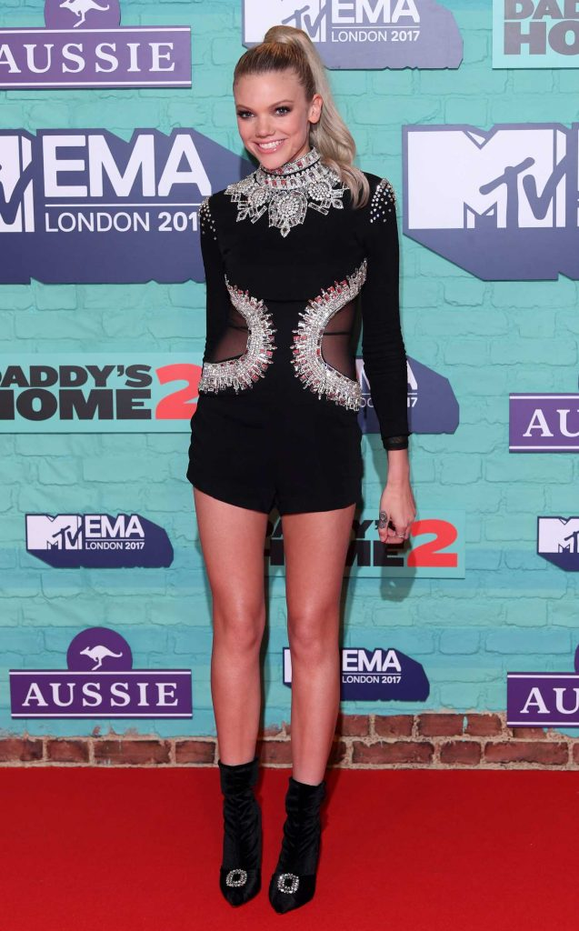 Becca Dudley at the 24th MTV Europe Music Awards in London-2