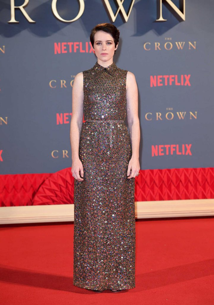 Claire Foy at The Crown Season 2 Premiere in London-1