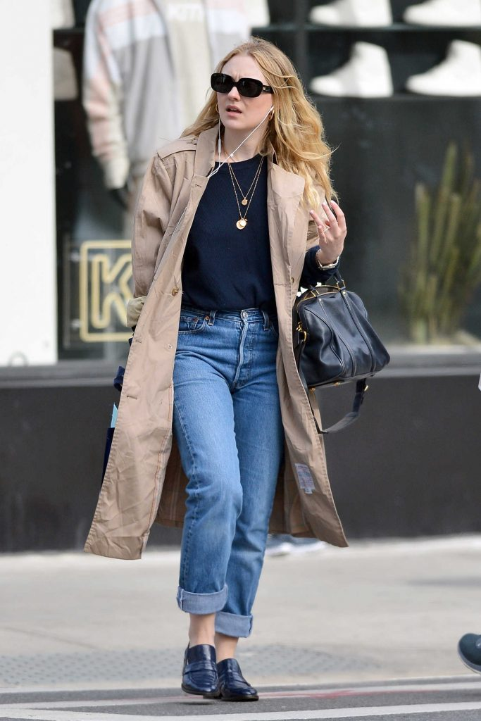 Dakota Fanning Out for a Stroll in NYC-1