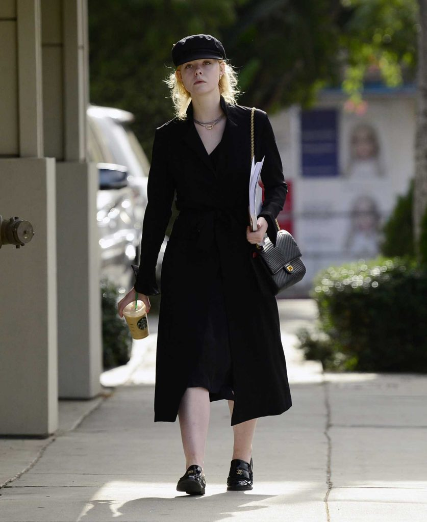 Elle Fanning Was Seen on Roberston Blvd in LA-1