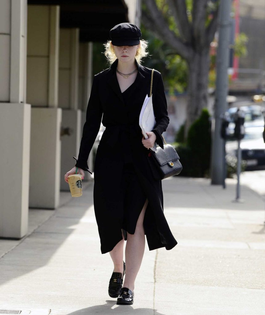 Elle Fanning Was Seen on Roberston Blvd in LA-5