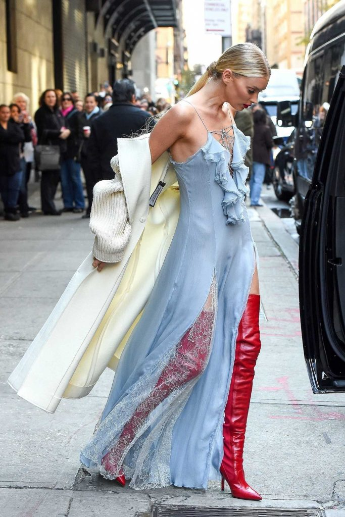 Elsa Hosk Arrives at the Wendy Williams Show in NYC-4