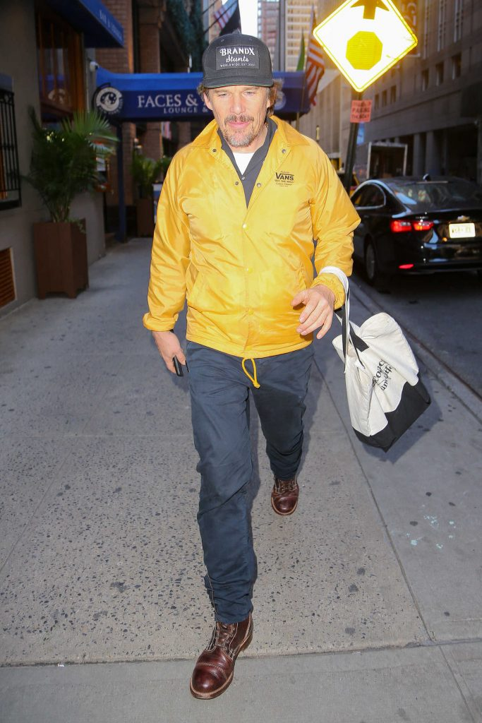 Ethan Hawke Was Seen Out in New York City-1