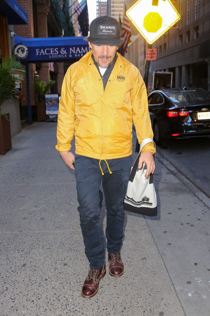 Ethan Hawke Was Seen Out in New York City-2