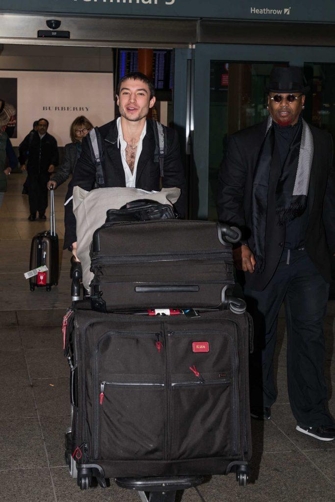 Ezra Miller Arrives at Heathrow Airport in London-1
