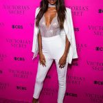 Jasmine Tookes at 2017 Victoria's Secret Fashion Show Viewing Party in New York City
